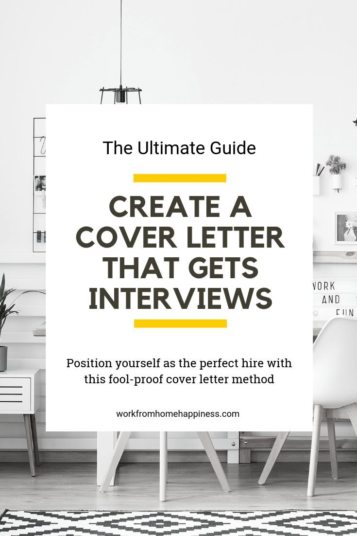A foolproof way to write cover letters that get interviews.