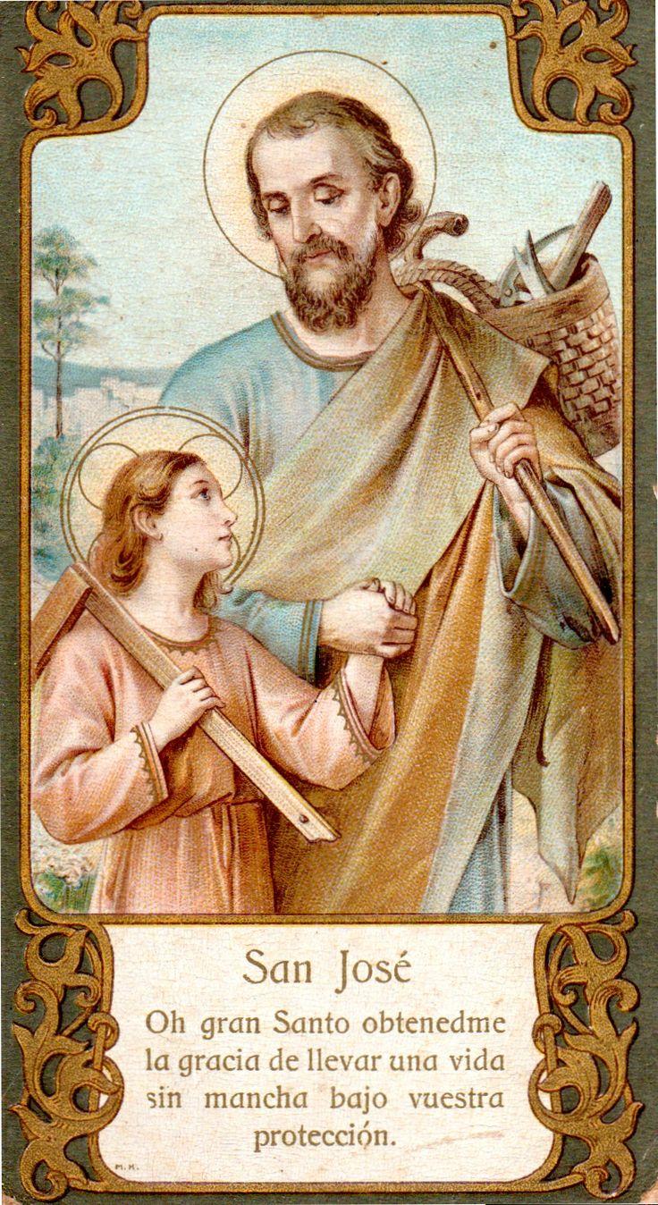 SAN JOSE, Padre adoptivo de Jesucristo y verdadero Esposo de la Virgen María, rogad por nosotros y por los agonizantes de este día.
