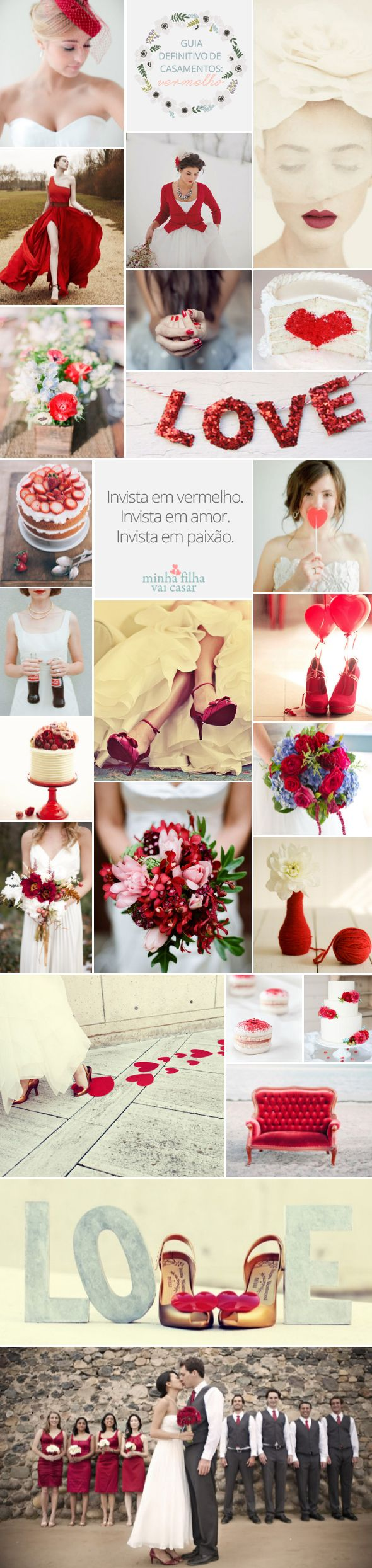 Red Wedding Inspirations, Ideas.