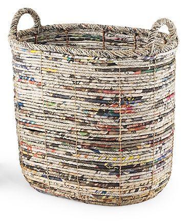diy magazine basket weaving | Корзина для белья в ванную