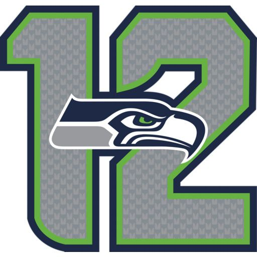 """Seattle Seahawks 12 Logo Type:  REAL.BIG. Fathead Wall Graphics Dimensions:  (W x H) 3'3"""" x 3'1"""""""
