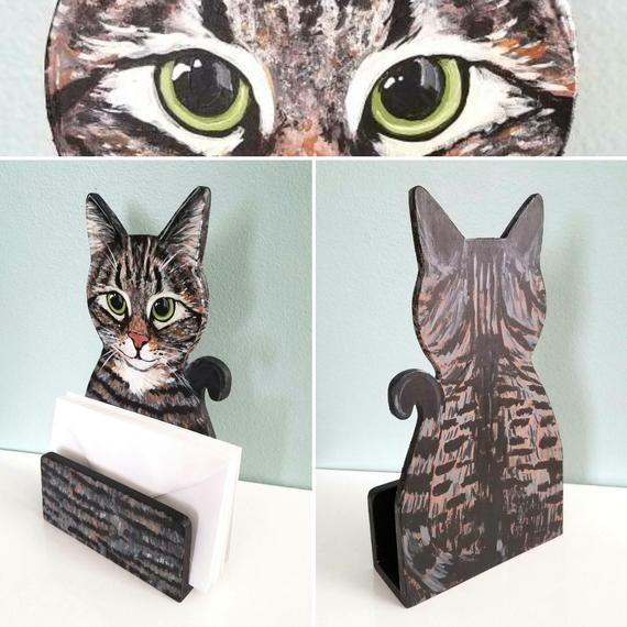 Este Articulo No Esta Disponible Custom Cat Portrait Wood Art Cute Desk Accessories