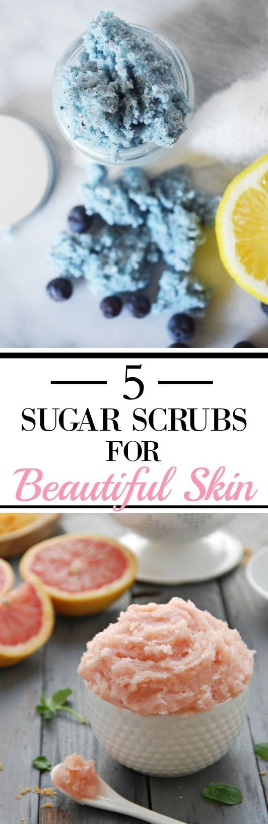 These 5 scrubs for beautiful skin are GREAT! I tried the blueberry one and my skin feels AMAZING! It also looks a bit younger too! Definitely trying out the coffee one next! And that grapefruit scrub looks beautiful and has some AWESOME benefits! I can't wait to make them all! They're so easy and simple!