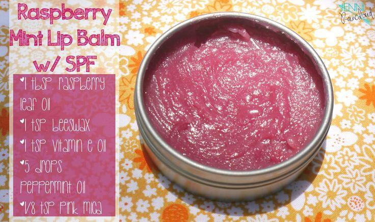 1 TBSP. Red Raspberry Seed Oil  1 tsp. Beeswax 1 tsp. Vitamin E Oil  1/8-1/16 tsp. pink mica(optional) 5 drops Peppermint Essential Oil (optional)
