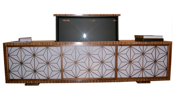 Pop Up TV Cabinet - Contemporary Transitional Media Consoles & Media Cabinets - Dering Hall