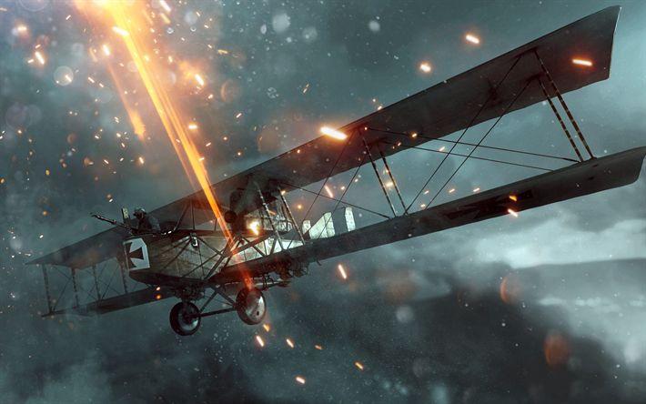 Download wallpapers Battlefield 1 Apocalypse, 4k, 2018 games, Battlefield, Luftwaffe