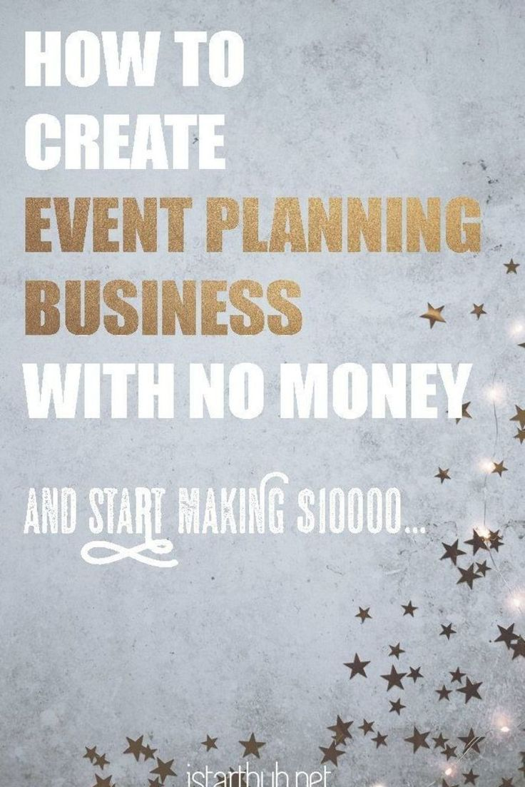 How to create event planning business without investment