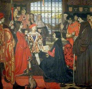 Erasmus and Thomas More Visit the Children of King Henry VII at Greenwich, 1499