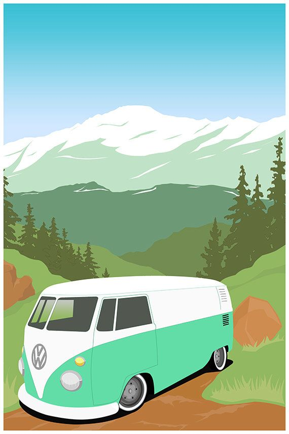 Mountain Transporter  VW Bus by GarageFabro on Etsy