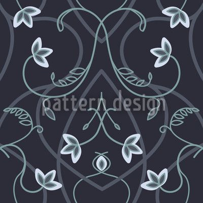Gothic Flower Fantasy Black by Martina Stadler available as a vector file on patterndesigns.com