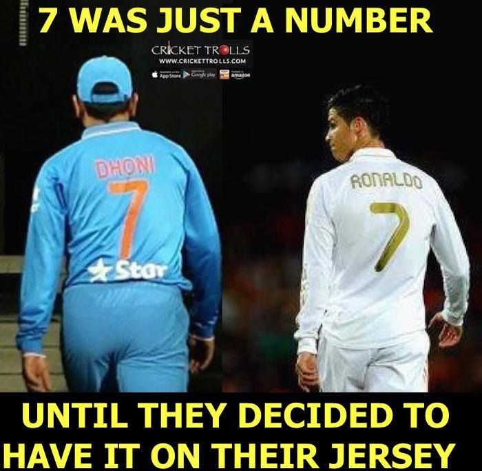 MS Dhoni and Cristiano Ronaldo :) For more cricket fun click: http://ift.tt/2gY9BIZ - http://ift.tt/1ZZ3e4d