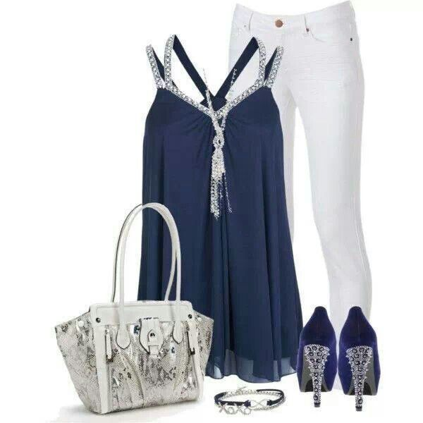 Baby blue and white