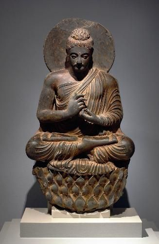 Gandhara Buddha seated
