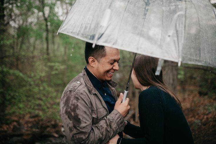 clear umbrella engagement Session