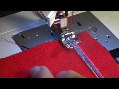 Videotutorial: los prensatelas para añadir hilos o cordones decorativos | contra la crisis yo elijo...COSER | Bloglovin'