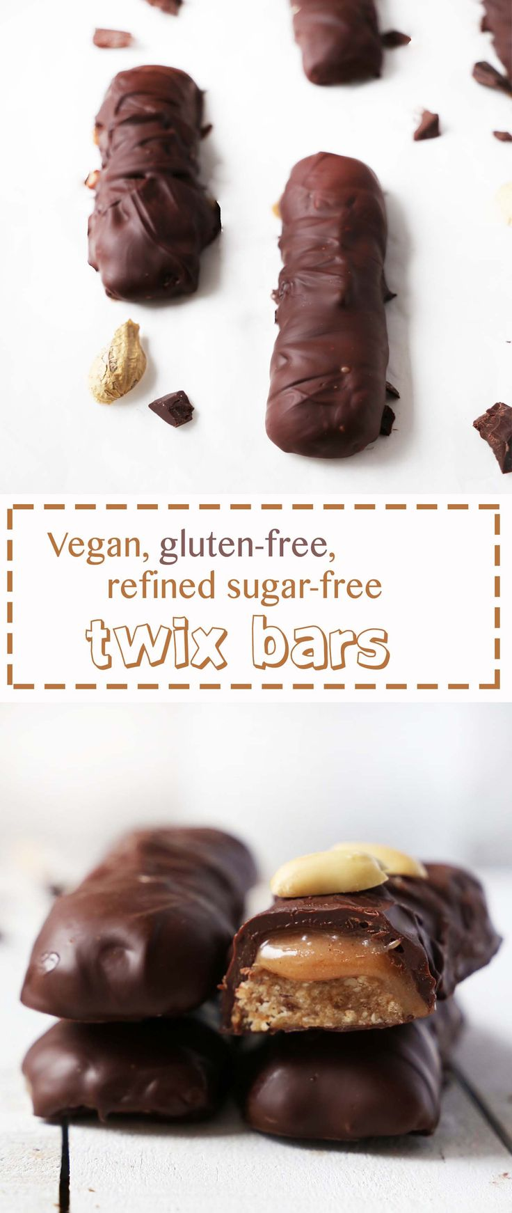 Vegan Twix Bars. My favorite candy bar wothout the GI upset and break outs!  Yes!