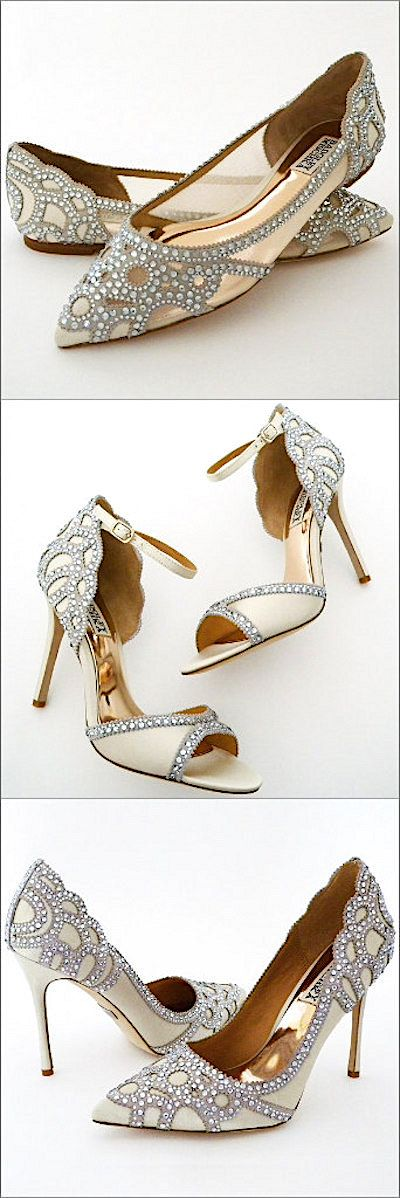 Badgley Mischka Wedding Shoes. Fabulous Flats, Sexy Sandals, Haute Heels. Which style are you?
