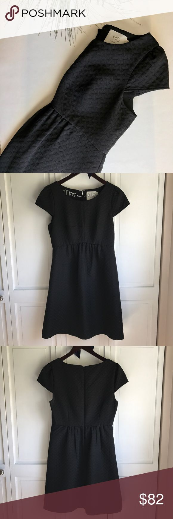 Anthropologie Dress Black patterned cap sleeve dress from Anthropologie by HD Paris. Size 6, in perfect condition! Length: 34.5in Waist: 14.5in. Anthropologie Dresses Midi