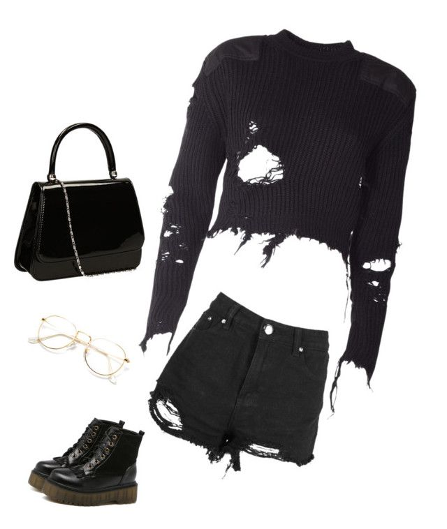 """Black"" by anisiabt on Polyvore featuring Boohoo and adidas Originals"