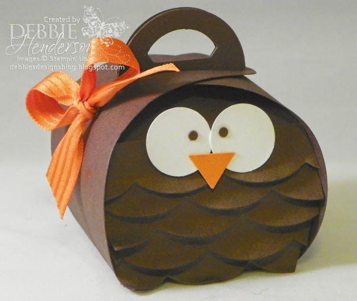 Stampin' Up! Curvy Keepsake Box Die Owl! Debbie Henderson, Debbie's Designs.