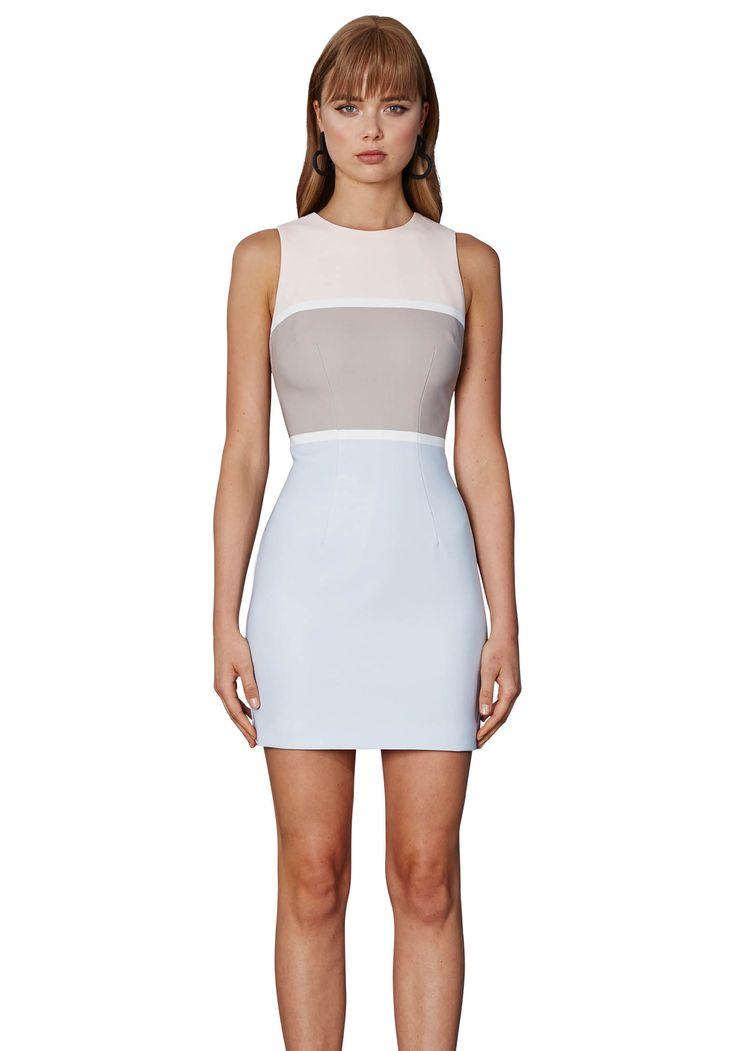 BY JOHNNY. Bold Lines Mini Shift Dress | Contemporary Australian Womenswear