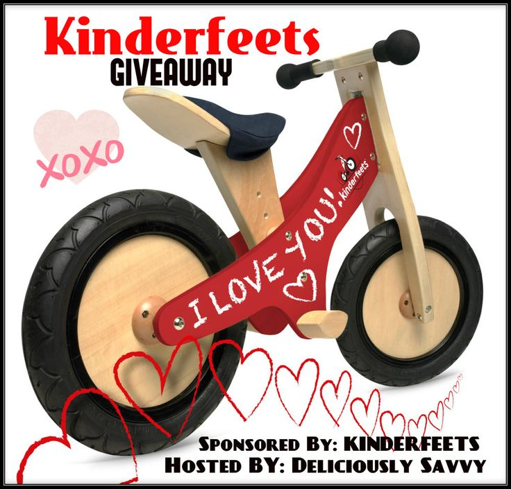 Have you seen these Kinderfeets bikes? They are perfect for any little one  One lucky winner will be super fortunate to be able to give this bike to a kiddo! This event is open to US residents and will be closing on March 3rd, 2016. Good luck to all and don't forget to enter …