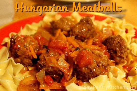 Hungarian Meatballs - Mom's Kitchen Pantry