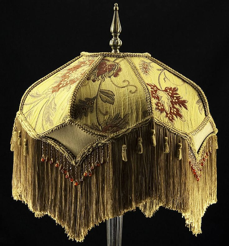 54 best awesome victorian lamp shades images on pinterest victorian lamp shade heavy embroidered fabric w gold silk rust beading fringe aloadofball Gallery