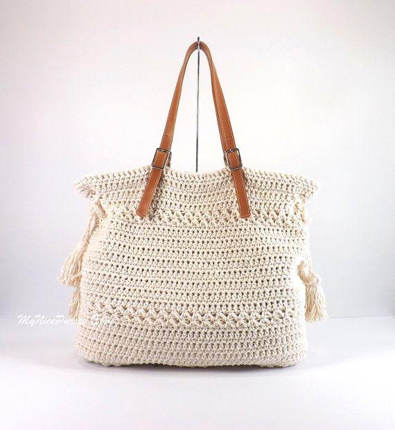 Bohemien stijl handtas haak haak Boho Tote Bag Shopper tas