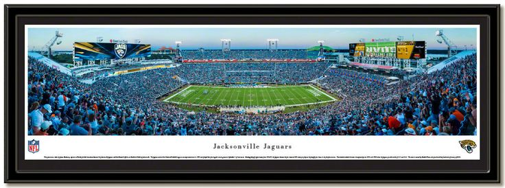 Everbank Field, home of the Jacksonville Jaguars taken in 2015 framed and ready to hang.