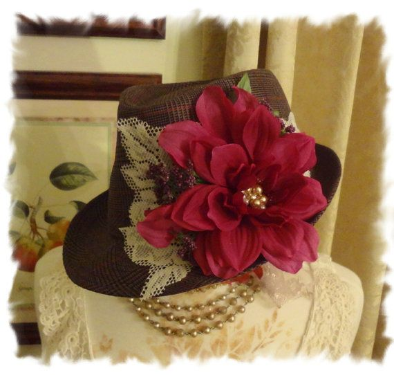 Bohemian Gypsy Fedora Downton Abbey Autumn by BerthaLouiseDesigns, $44.95