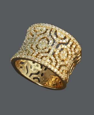 love a big bold piece of jewelryHexagons Rings, Effie Collection, 14K Gold, Diamonds Rings, Gold Diamonds, Diamonds Hexagons, Collection Diamonds, Jewelry Rings, Fine Jewelry