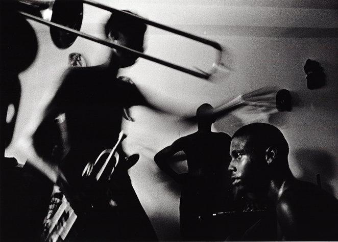 "Ernesto Bazan ""Salsa Musicians Rehearsing, Havana, Cuba"" 1997"