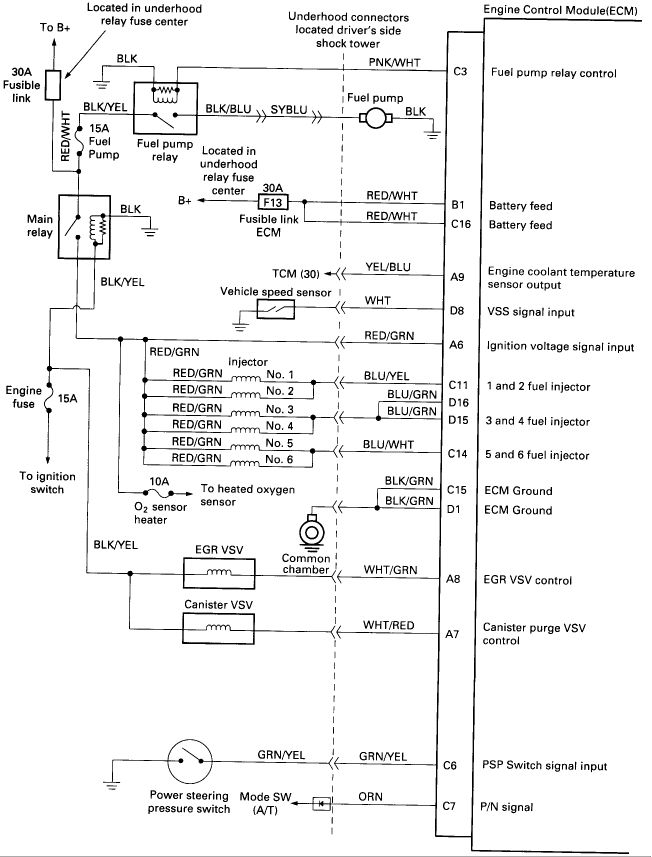 2001 Honda Accord Fuel Pump Wiring Diagram Diy Enthusiasts