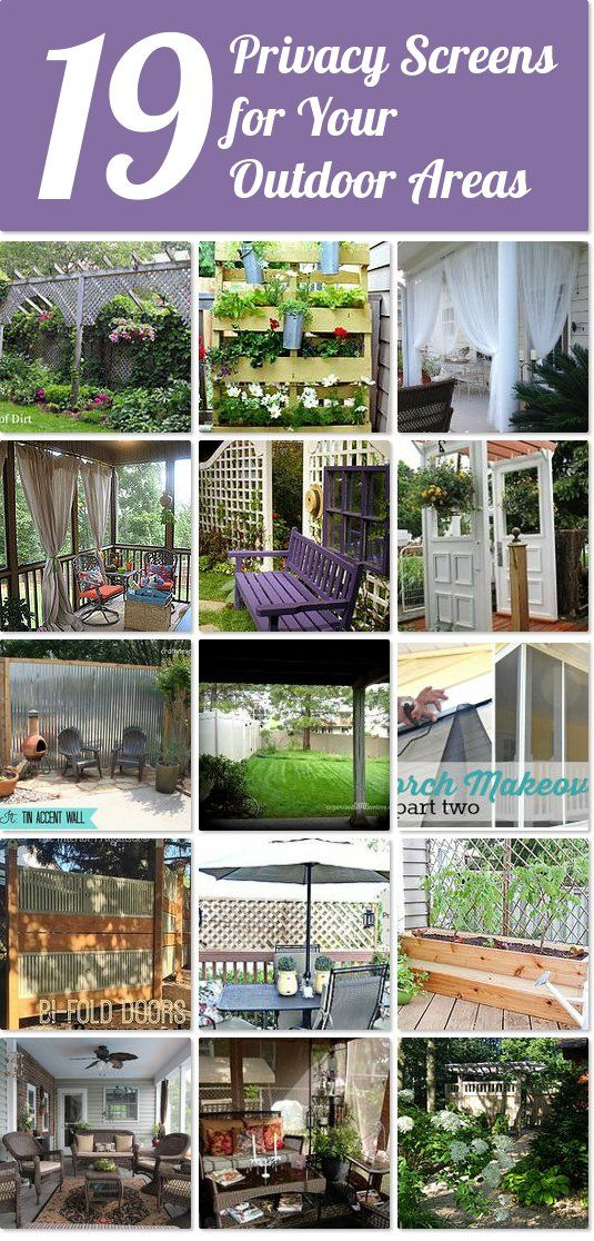 19 privacy screens for your outdoor areas ~ perfect way to maintain your privacy and still enjoy the outdoors this summer.