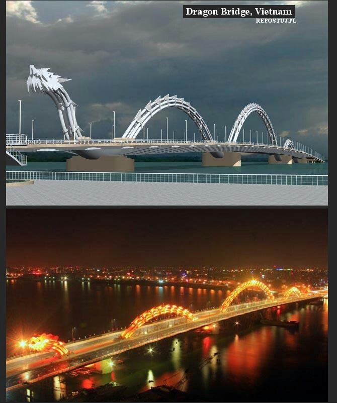 Dragon Bridge in Da Nang, Vietnam