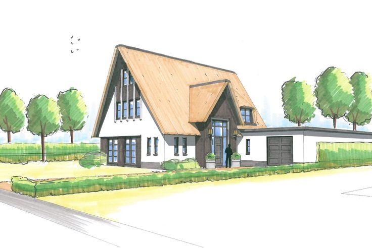 Schets huis huis buitenkant pinterest - Huis buitenkant ...