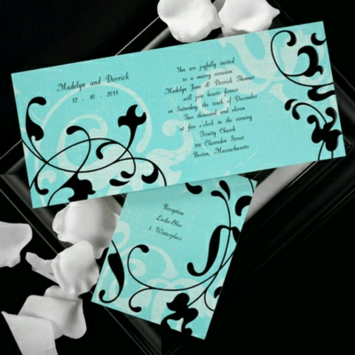 black and teal wedding