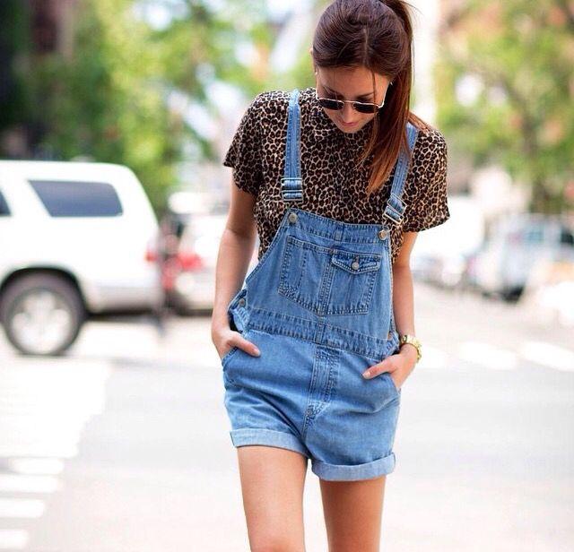 Animal print & jeans.