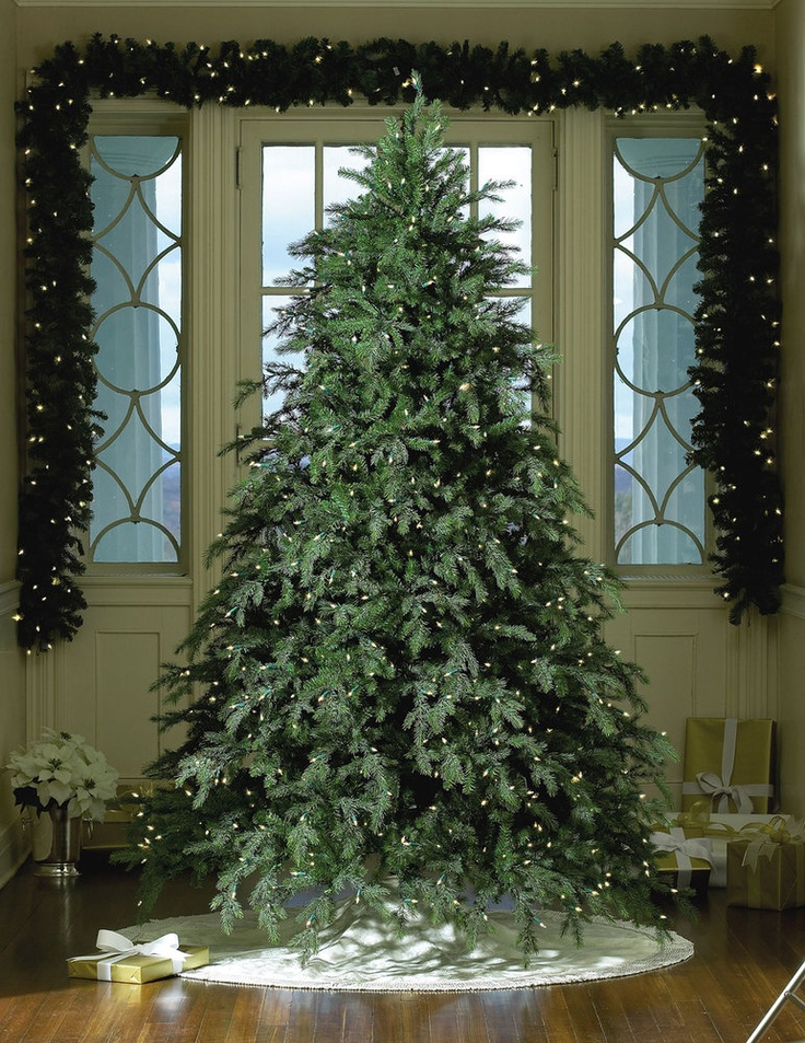 Love it!!! Artificial Christmas Trees - 7.5' Hunter, Full Tree, 850 Clear Lamps