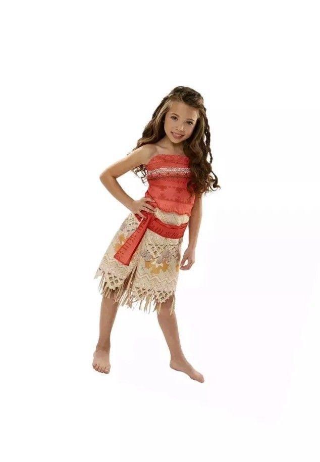 Disney Moana Girls Adventure Outfit Dress Up Halloween Costume New Size 4-6X