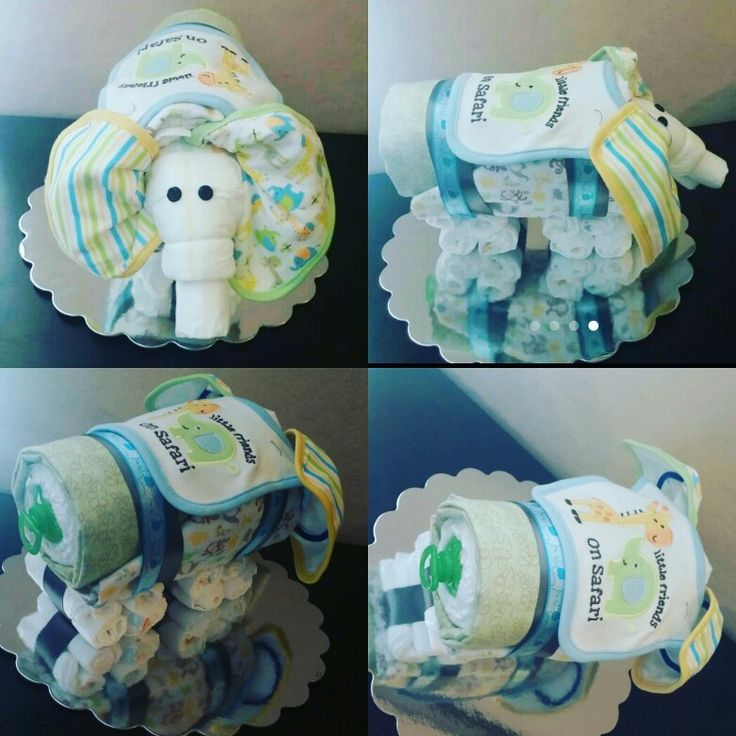 Elephant Baby Shower Diaper Cake