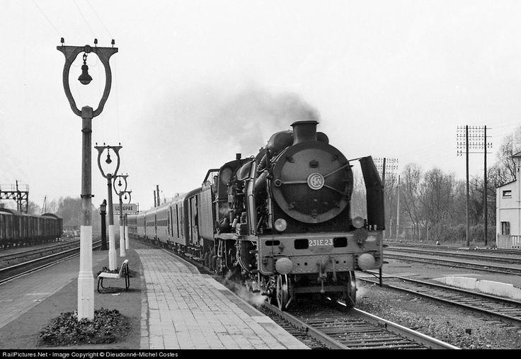 RailPictures.Net Photo: 231E23 SNCF Steam 4-6-2 at Longpré-les-Corps-Saints, France by Dieudonné-Michel Costes