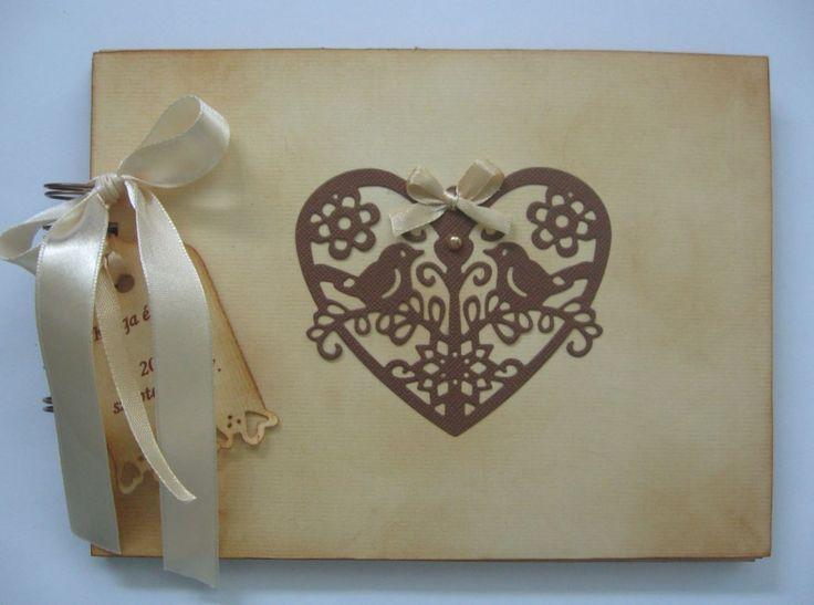 Vendégkönyv (tintázással készült)