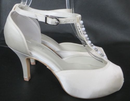 BNWT-BHS-Wedding-Collection-Ivory-Satin-Shoes-Wide-Fit-Bridal-3-4-5-6-7-8