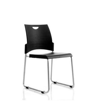 A universal stacking chair with a strong, robust frame and a durable polypropylene seat and back #seated #pronto #stacking #chair seated.com.au