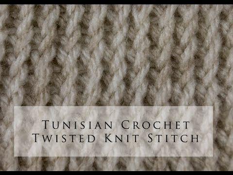Tunisian Crochet Twisted Knit Stitch