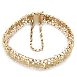 18ct Gold Patterned Ladies Bracelet