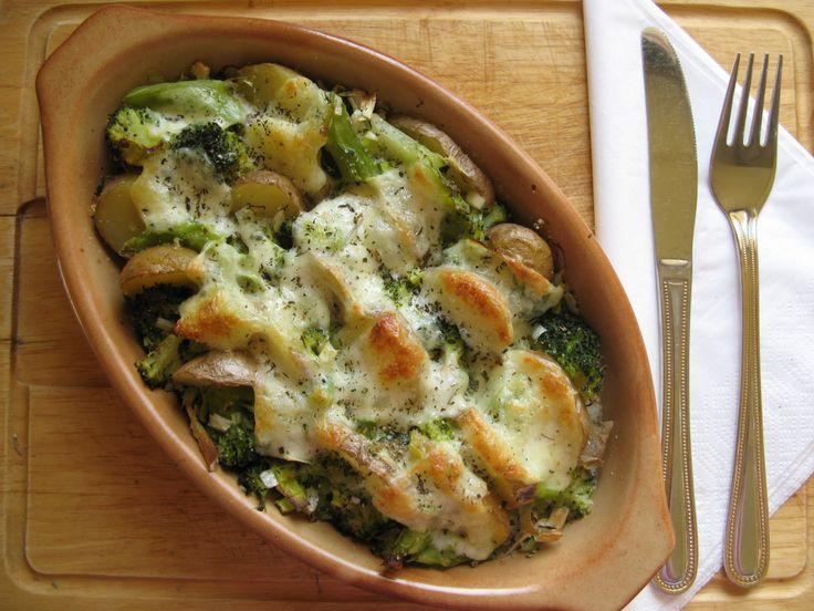 zapečená brokolice - servírování