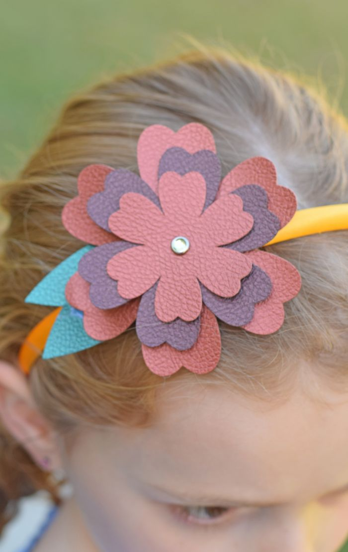 17 best ideas about headband crafts on pinterest love for Leather flowers for crafts